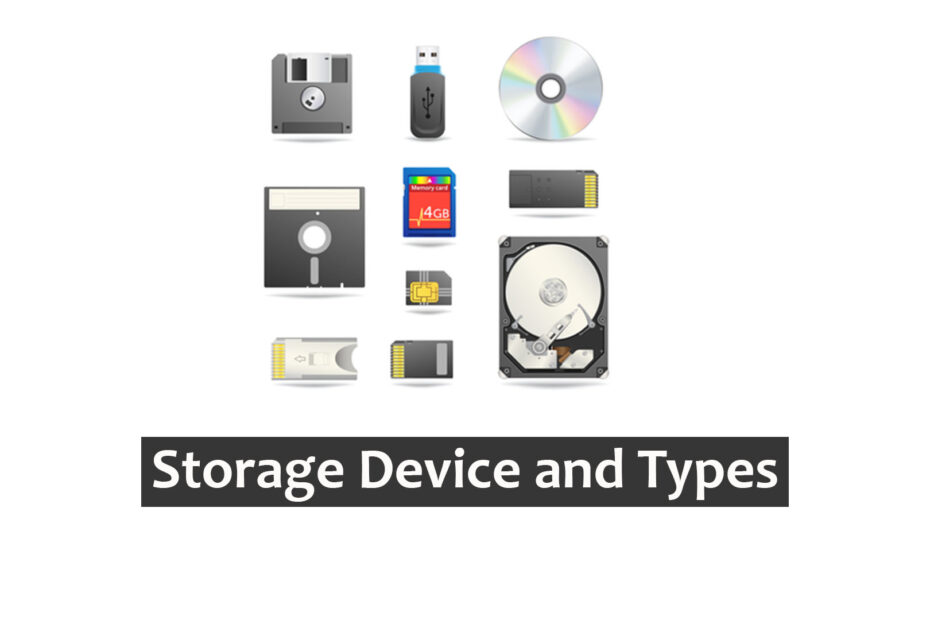 What is a Storage Device and how many types